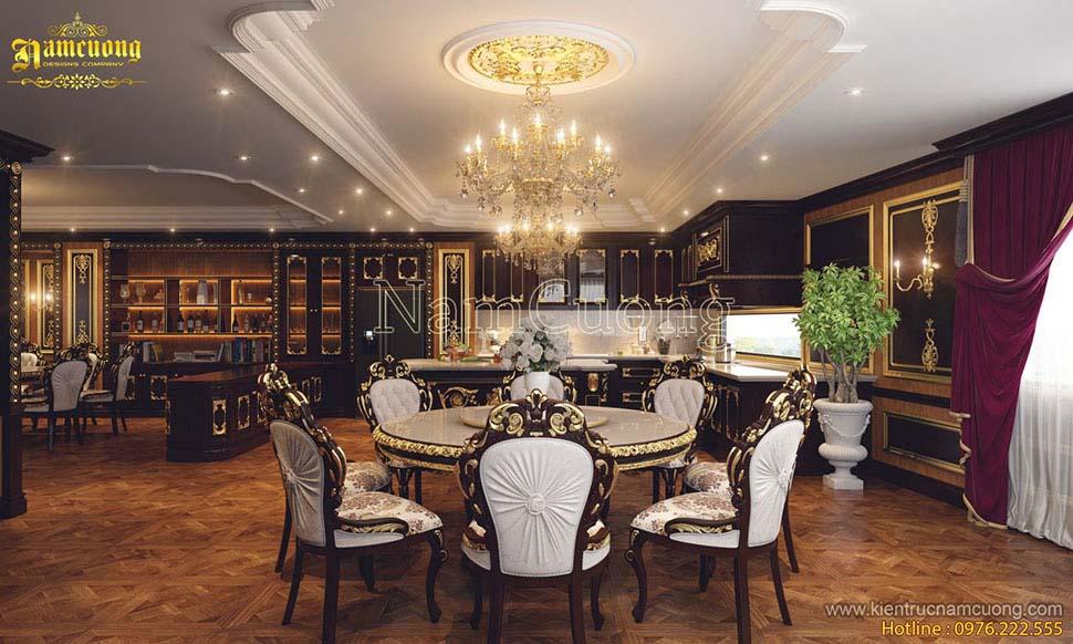 mẫu nội thất biệt thự cổ điển đẹp