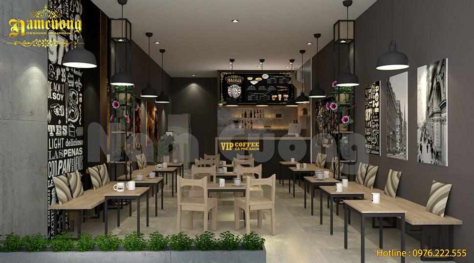 không gian cafe hiện đại