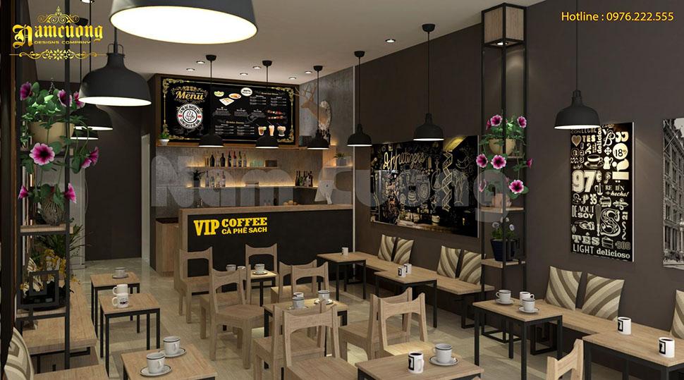 mẫu nội thất cafe hiện đại đẹp