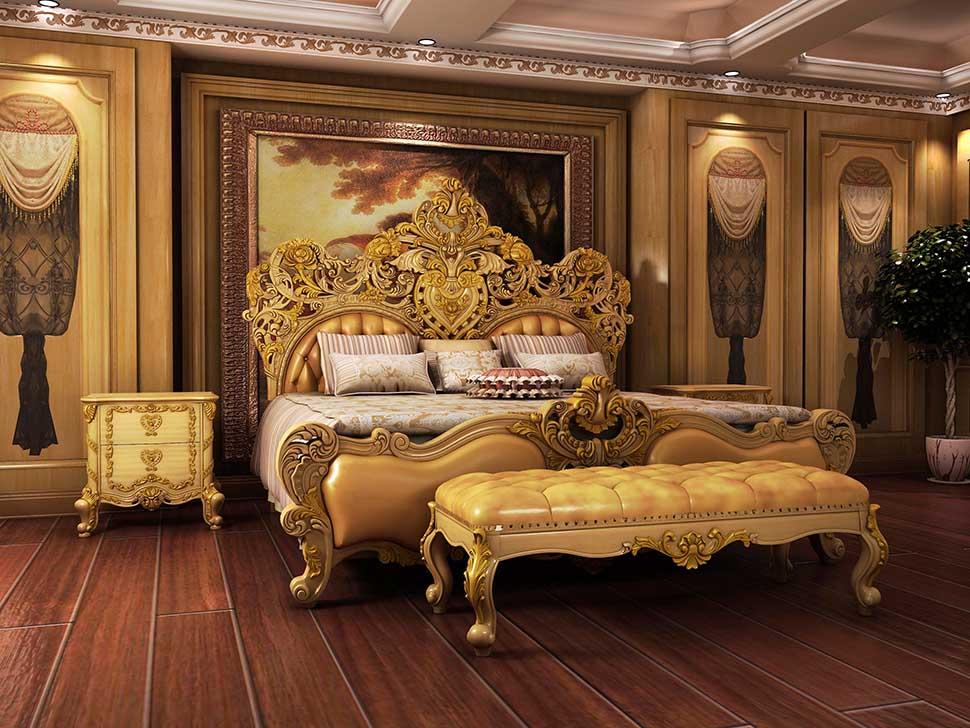 giường ngủ phào chỉ