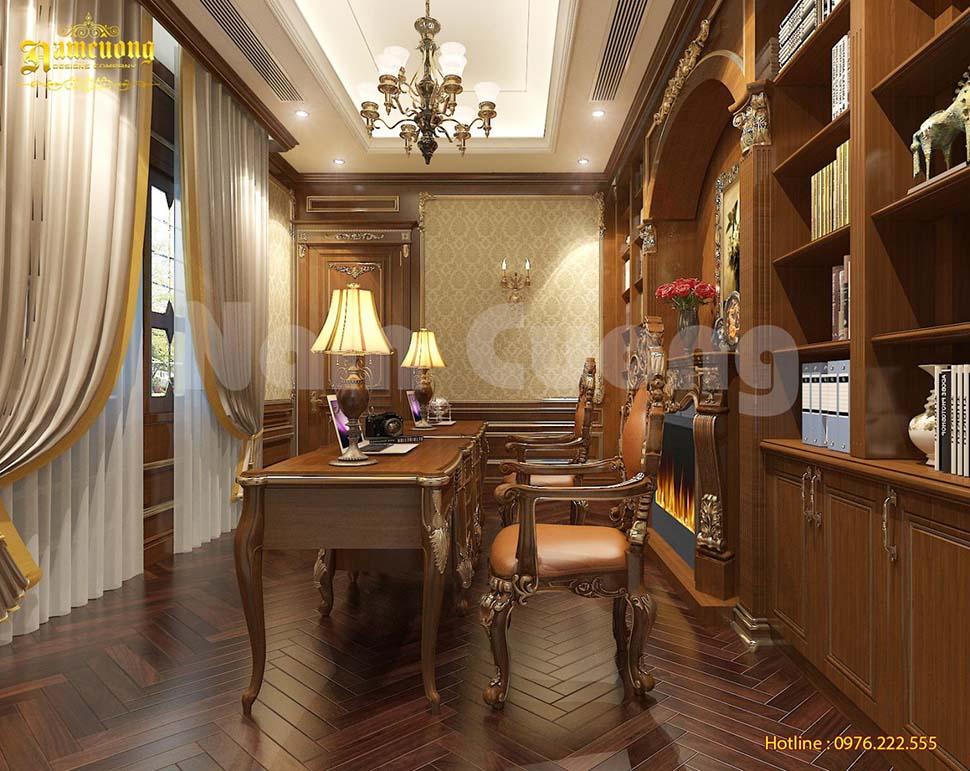 phòng đọc sách tân cổ điển