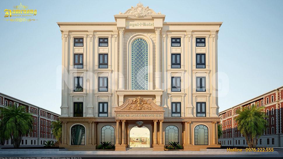 thiết kế khách sạn 5 tầng đẹp