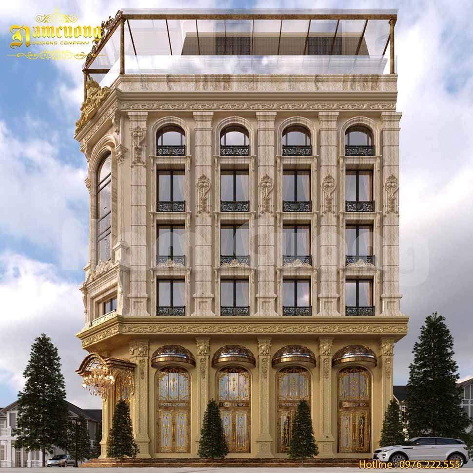 thiết kế kiến trúc khách sạn cổ điển