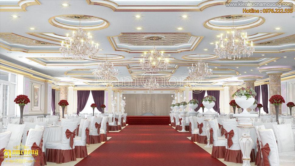 thiết kế hội trường tiệc cưới