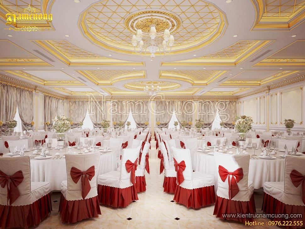 ánh sáng nhà hàng tiệc cưới