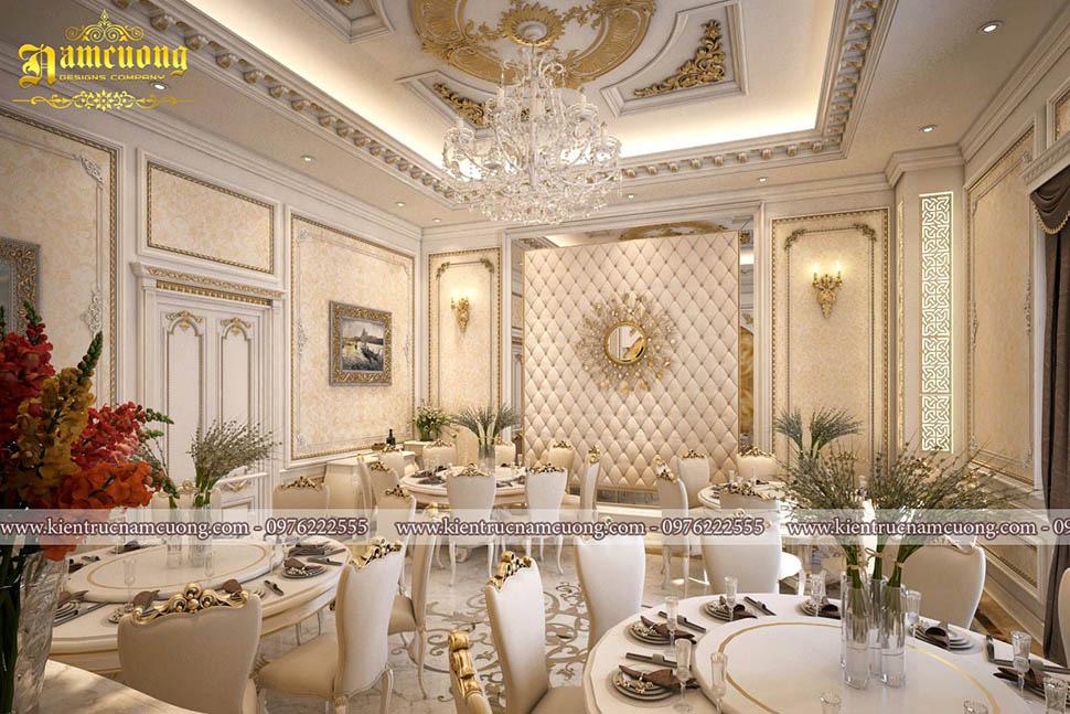 thiết kế phòng ăn riêng tư