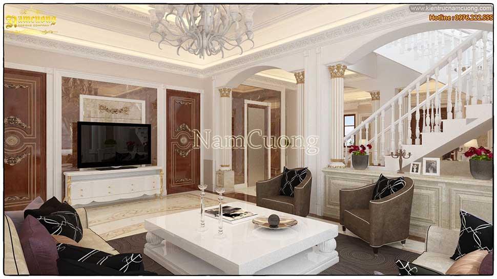 thiết kế phòng khách tại sài gòn