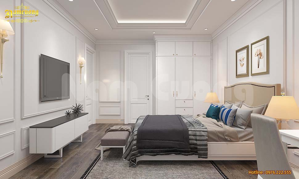 nội thất phòng ngủ biệt thự vinhome green bay
