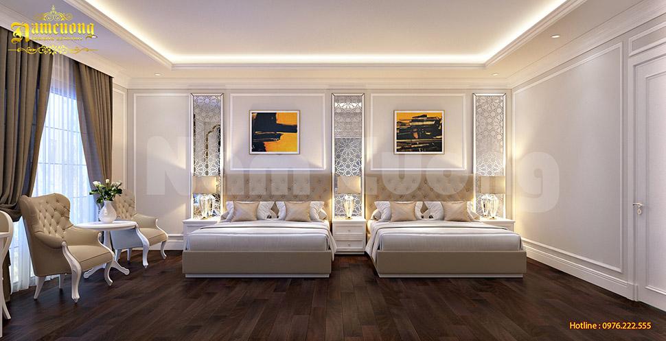 nội thất phòng ngủ khách sạn tân cổ điển