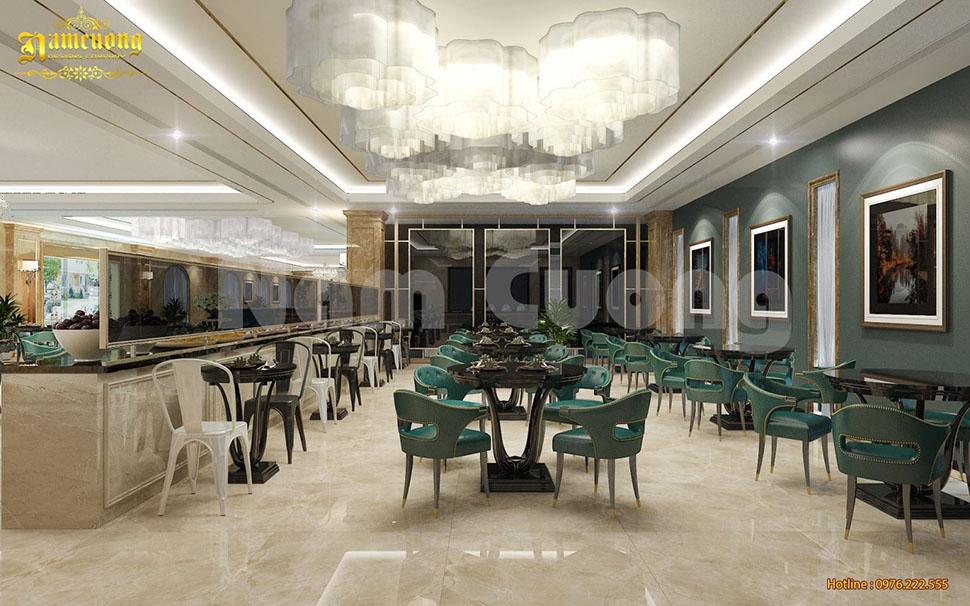 thiết kế nội thất nhà ăn khách sạn