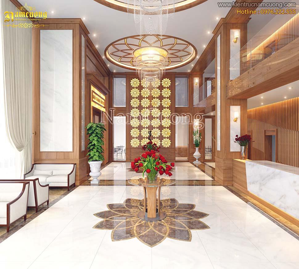 mẫu sảnh khách sạn tân cổ điển