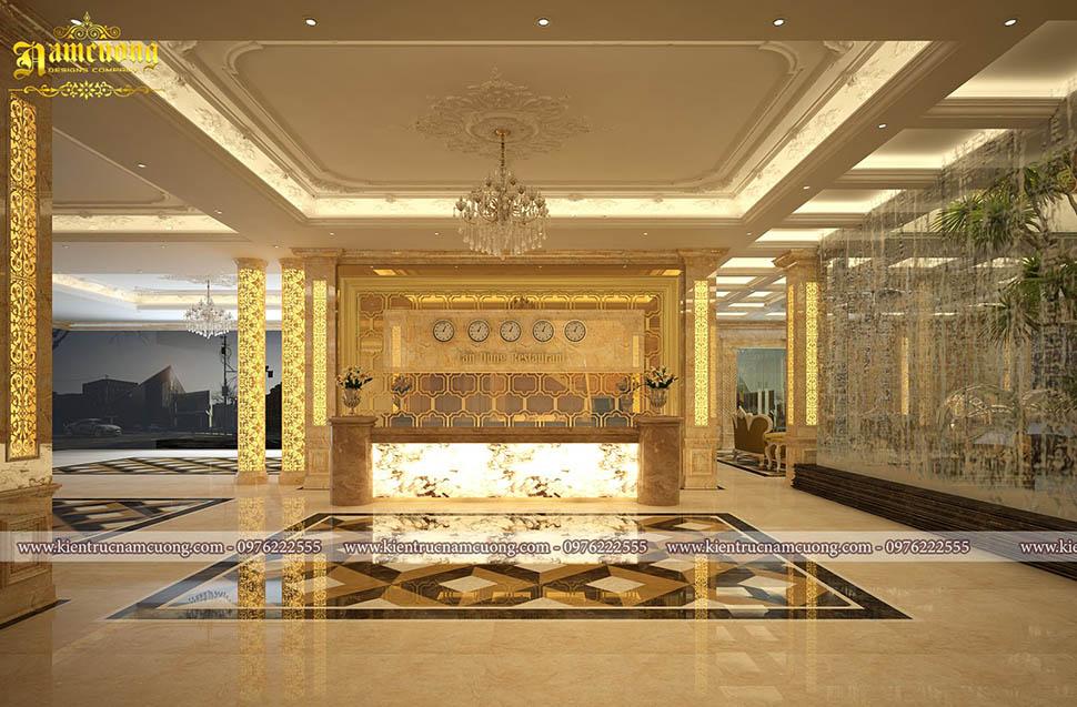 sảnh khách sạn 2 sao đẹp