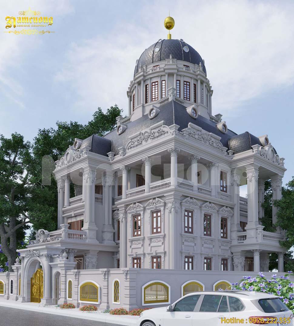 nhà biệt thự có mái vòm