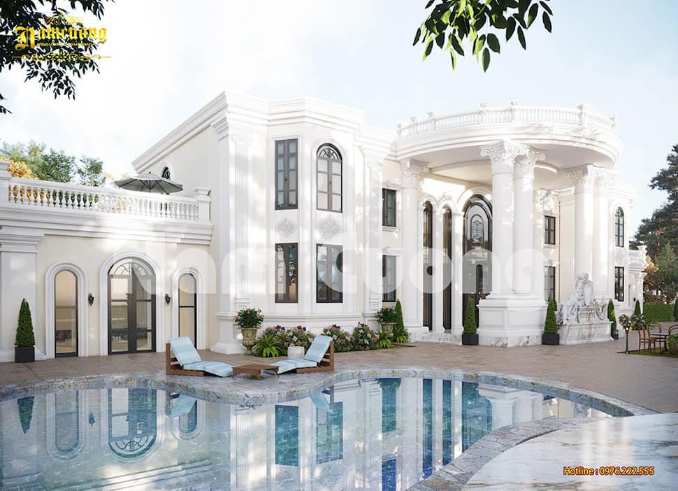 biệt thự 2 tầng có bể bơi
