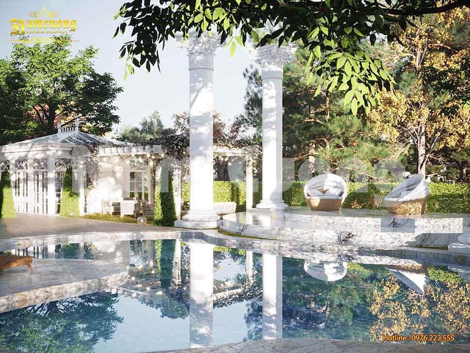 hồ bơi biệt thự vườn