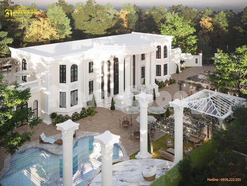thiết kế nhà vườn 2 tầng