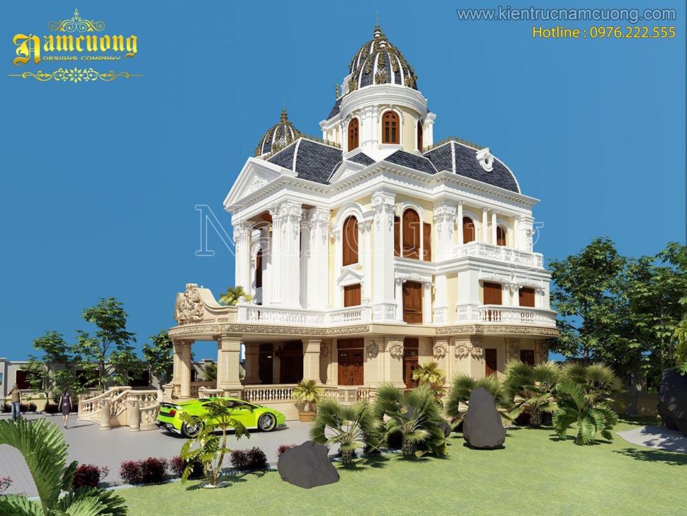 thiết kế lâu đài 3 tầng đẹp