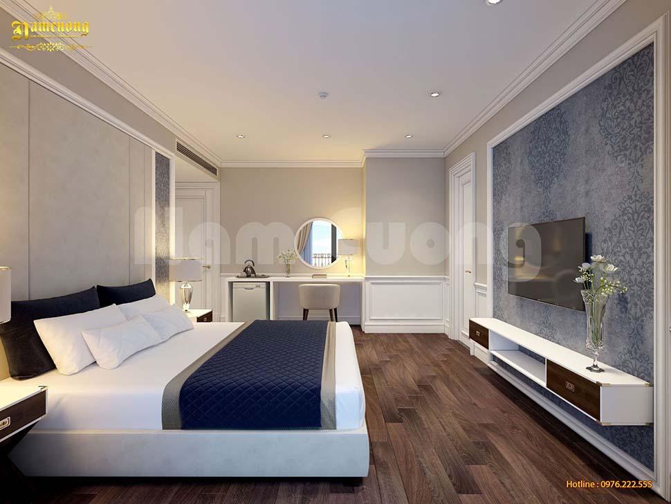 giường đôi nhỏ cho khách sạn