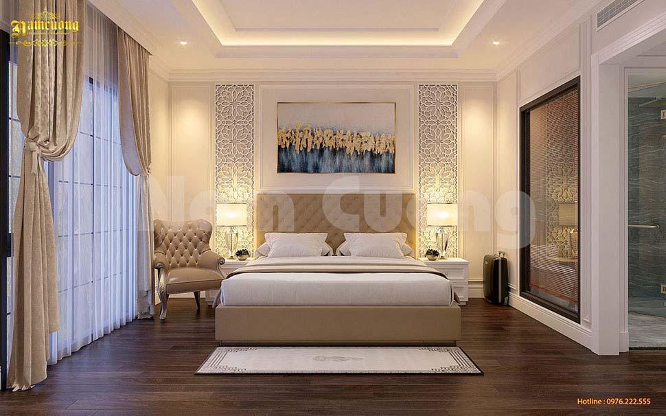 thiết kế giường đôi đẹp