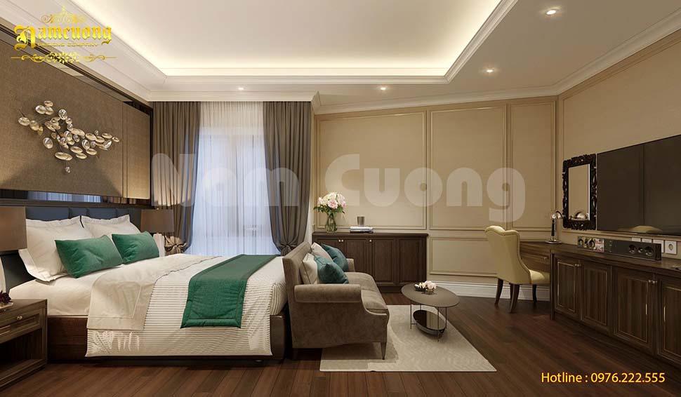 chất liệu giường khách sạn