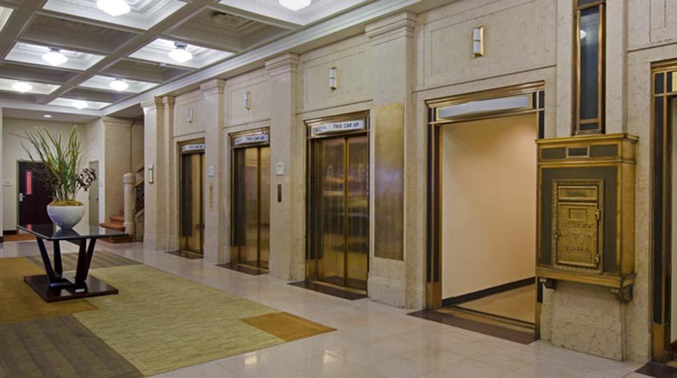 đá ốp ngoài thang máy