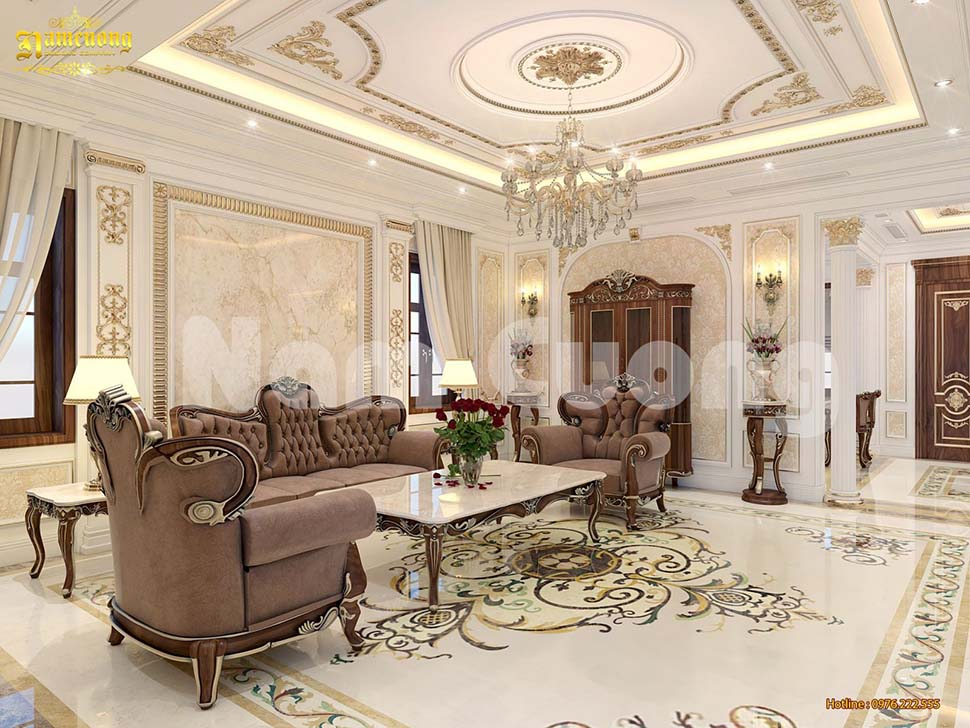mẫu phòng khách 28m2 đẹp