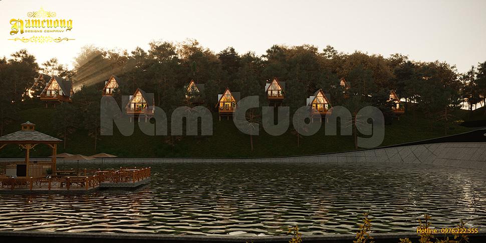 Những căn nhà bungalow nhỏ trải đều khắp resort