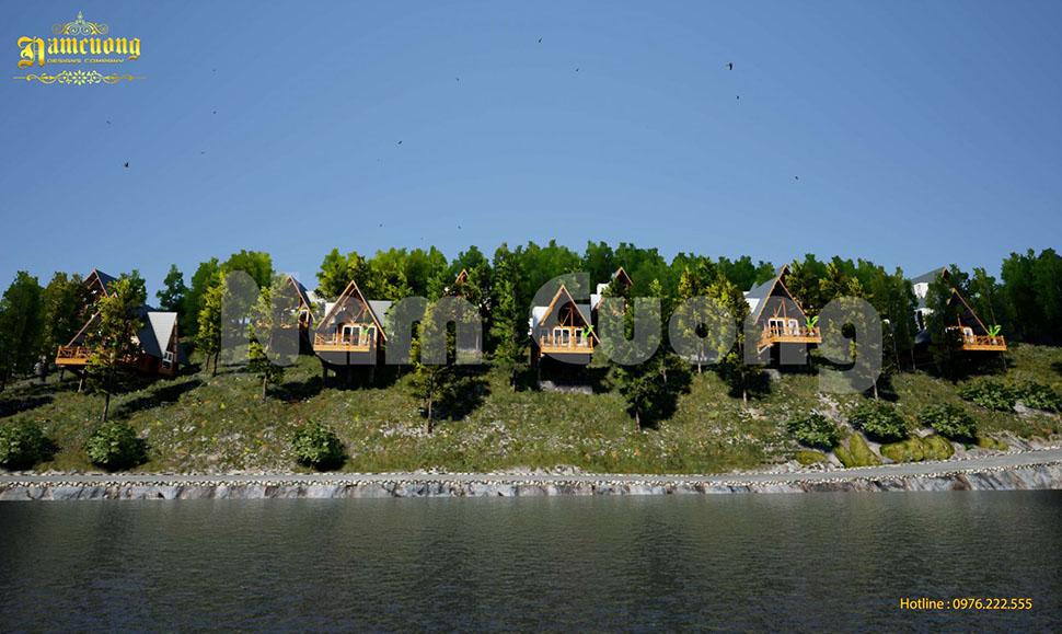 thiết kế resort bungalow đơn giản