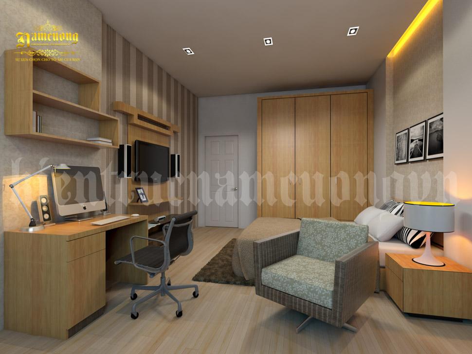 phòng bếp nhà phố 50m2