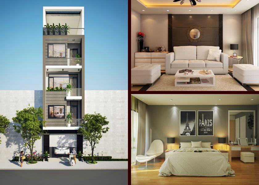 thiết kế nhà phố 5x17m đẹp