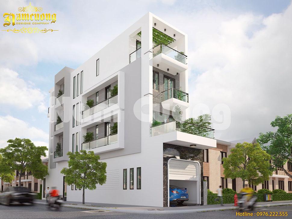 mẫu nhà phố xanh hiện đại
