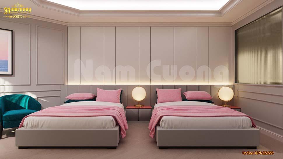 không gian mẫu thiết kế phòng ngủ khách sạn mini