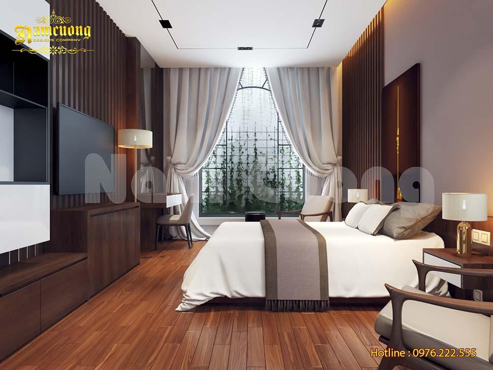 Ánh sáng tràn ngập mẫu thiết kế phòng ngủ khách sạn mini