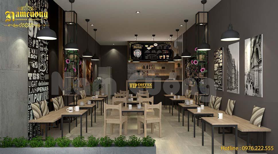 thiết kế quán cafe take away