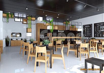 mẫu quán cafe hiện đại đẹp