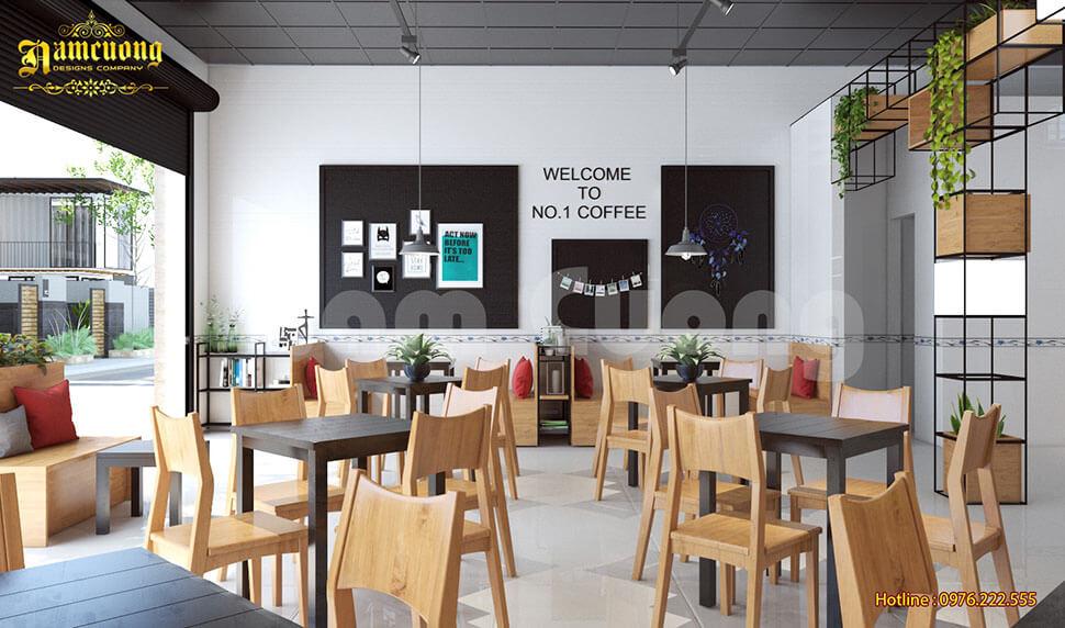 trang trí quán cafe hiện đại