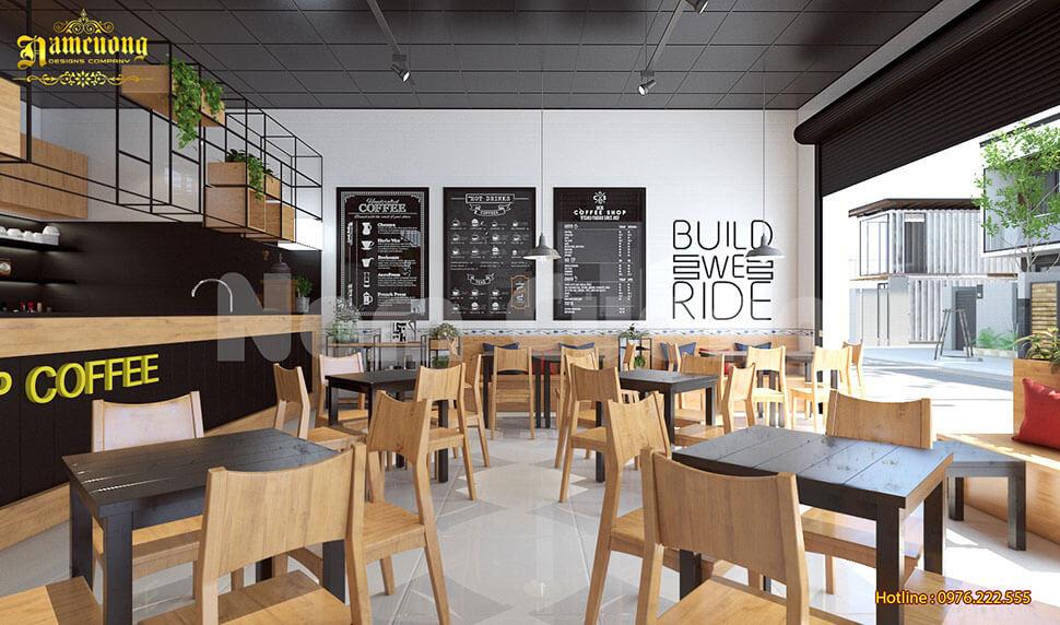 nội thất quán cafe ấn tượng