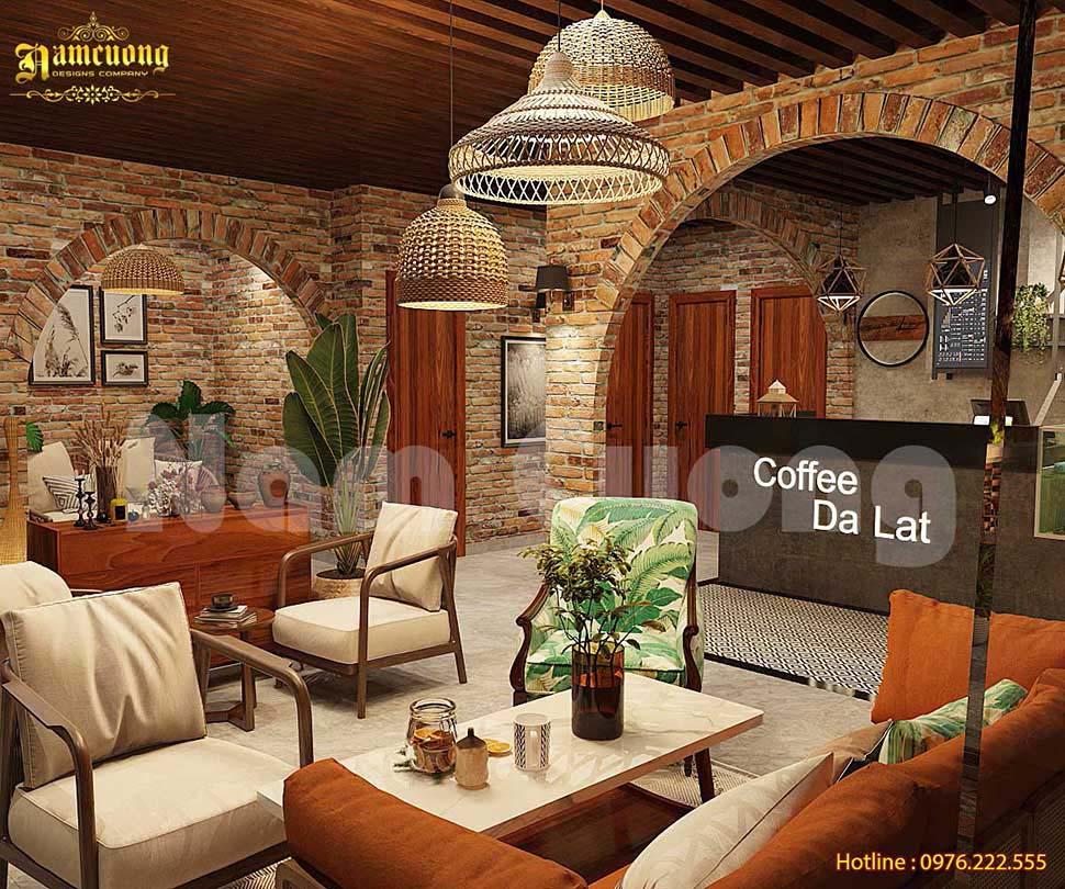 trang trí quán cafe mộc