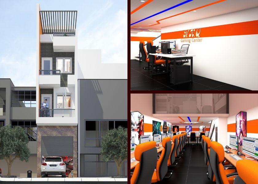 không gian quán game online