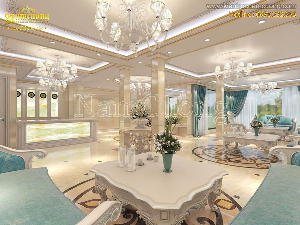không gian sảnh khách sạn đẹp