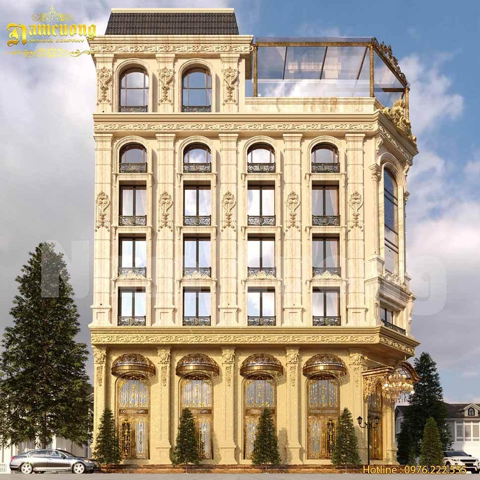 kiến trúc khách sạn kiểu pháp