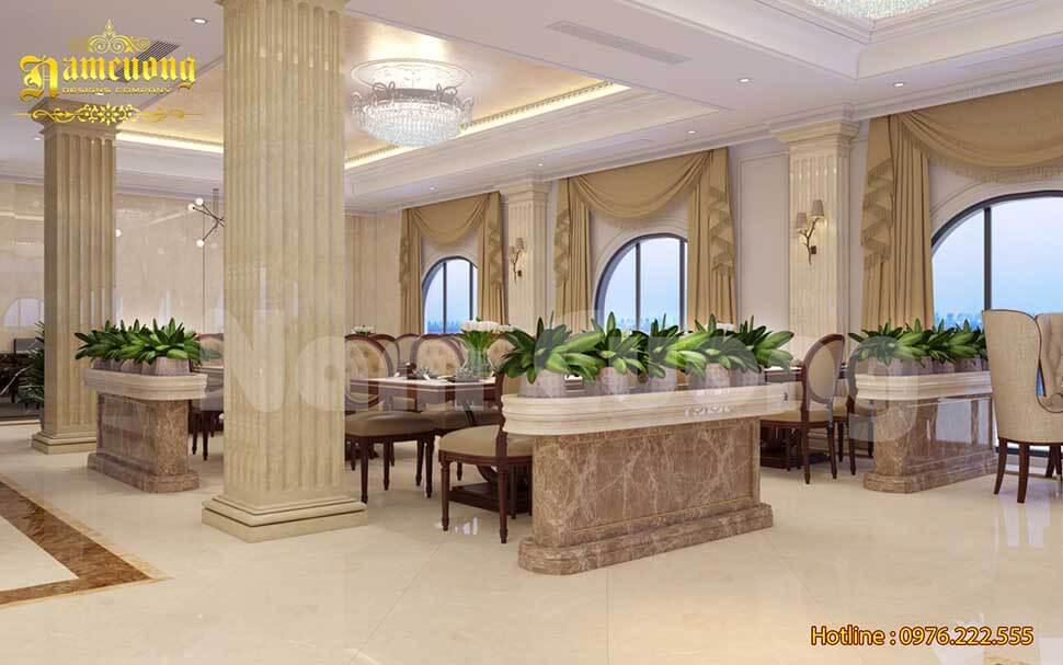 phòng ăn khách sạn kiểu pháp