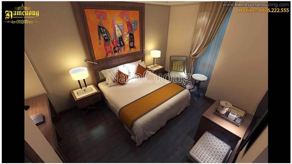 nội thất phòng đơn khách sạn