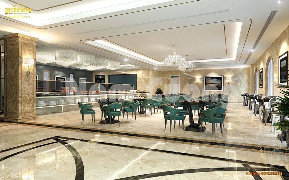 nội thất phòng ăn khách sạn