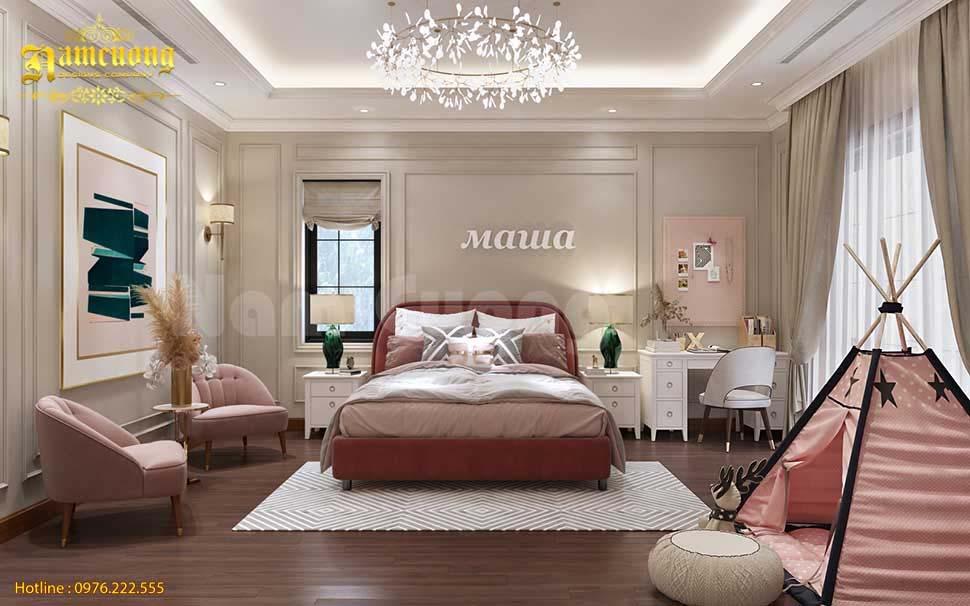 phòng ngủ biệt thự 3 tầng