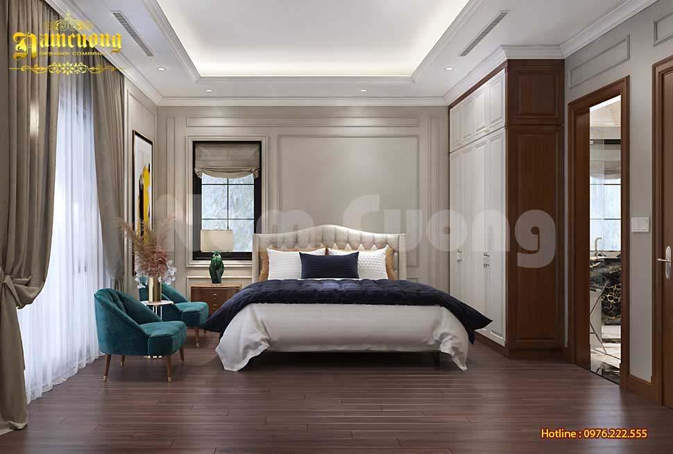 phòng ngủ biệt thự 3 tầng mái mansard