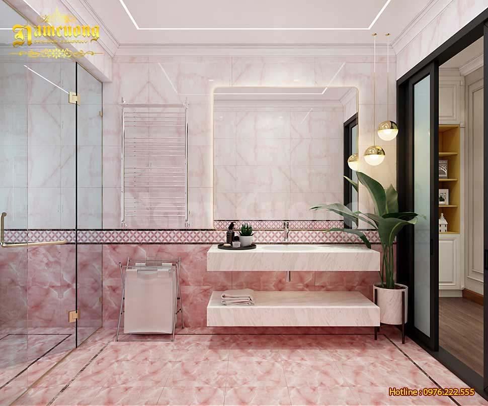WC màu hồng