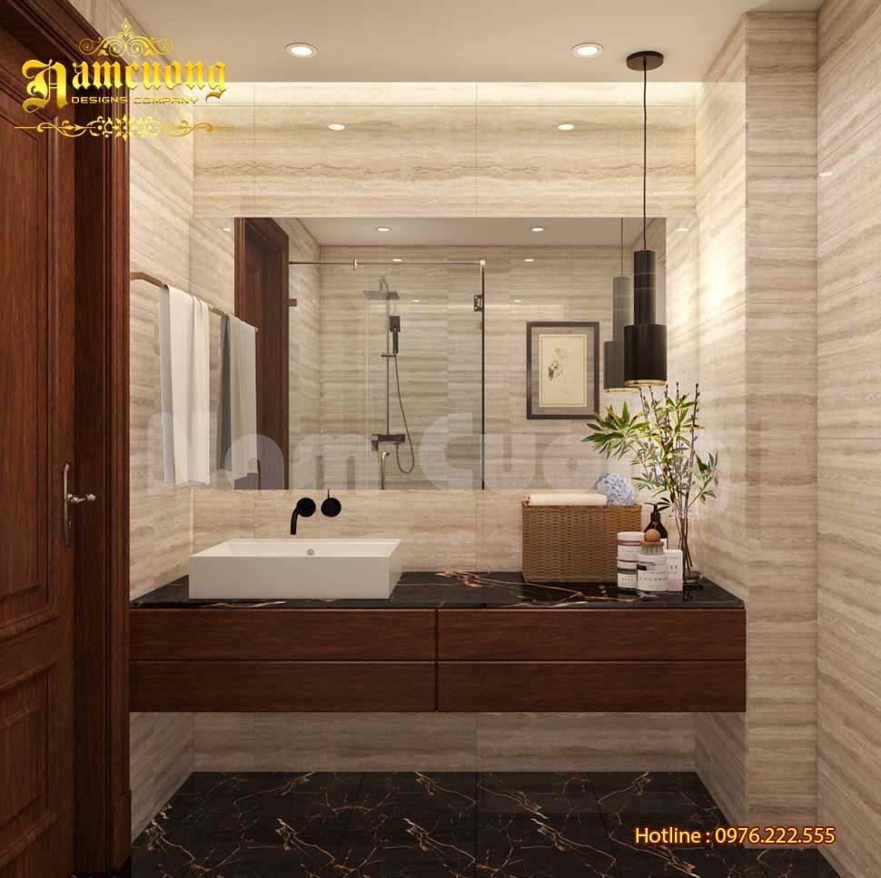 phòng tắm biệt thự 3 tầng mái marsand