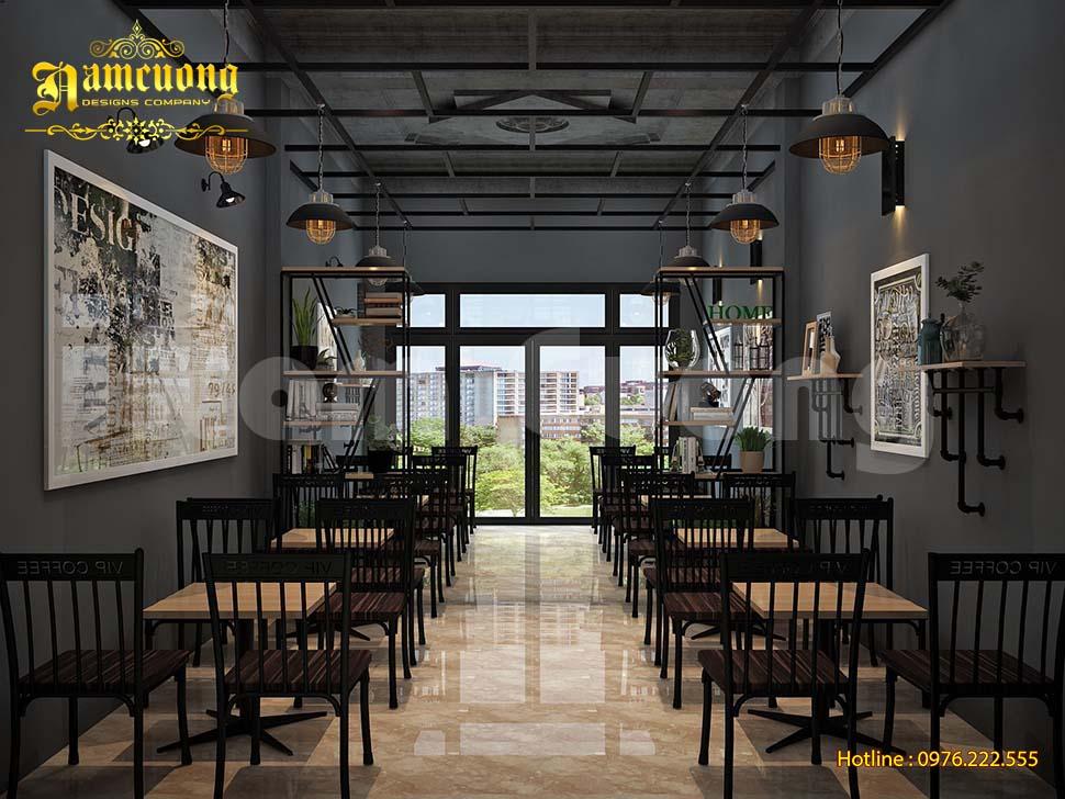 không gian cafe đẹp