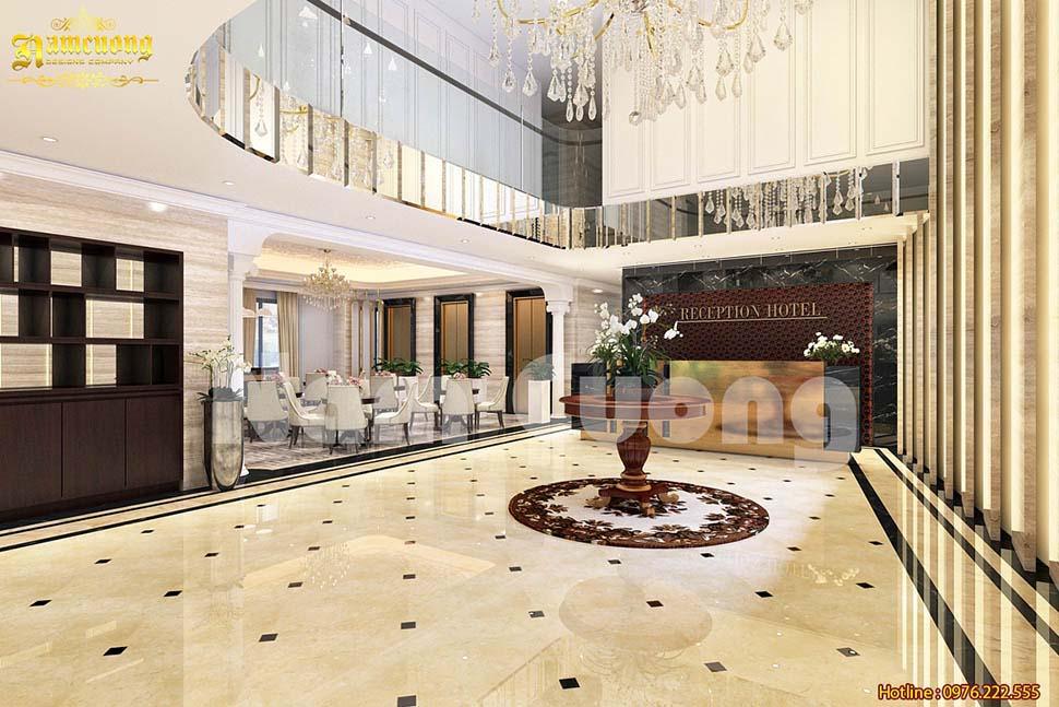 3D nội thất khách sạn